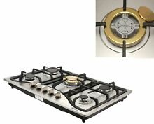 30  Stainless Steel Built in 5 Burner Stoves NG LPG Gas Cooktop