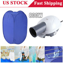 Portable Electric Clothes Dryer Heater Rack Wardrobe Drying Machine  Air Pump US