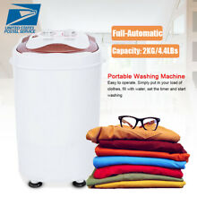 Mini Portable Washing Machine Spin Wash 4 4Lbs Capacity Compact Laundry Washer W