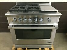 DCS 36  Gas Professional Range 4 Burners   Griddle RGU 364GD N Stainless Steel