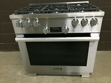 Miele HR1134G   36  Professional All Gas Range 6 Burners Stainless