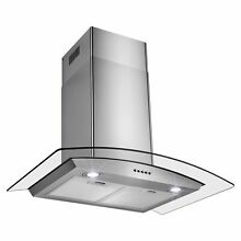 Perfetto Kitchen and Bath 30  Convertible Wall Mount Range Hood in Stainless