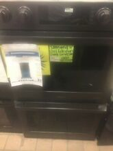 Samsung 30  Matte Black Double Electric Dual Convection Oven Pre owned
