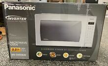 Panasonic 2 2 cu ft 1250W White Countertop Microwave w Inverter Technology