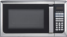 Hamilton Beach Stainless Steel 0 9 Cu  Ft  Microwave Oven Touch Pad Control