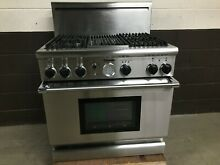 Thermador PDR364GLZS Dual Fuel Range 36  Pro Grand 4 Burners   Grill