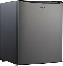 Galanz 2 7 Cu Ft Single Door Mini Fridge GL27S5  Stainless Steel
