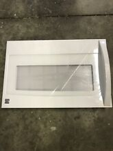 KENMORE 5304491769 Microwave Door Assembly  White  USED SOME SCRATCHES