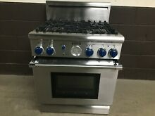 Thermador 30  PG304BS Pro Grand Gas Range Oven 4 Burner Stainless Blue Knobs