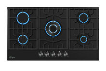 Empava 36  Gas Cooktop 5 Burners Built in Stove Tempered Glass NG LGP 36GC905