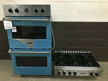2 pc set  Viking Range Top 36  VRT5366BSS and Viking 30  Double Oven VDOE530SS