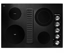 KitchenAid KCED600G 30 Inch Electric Downdraft Cooktop   Black