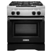 KitchenAid 30  Dual Fuel Freestanding Commercial Range with Even Heat