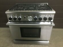Thermador PDR366ZS 36  Dual Fuel Pro Grand Range 6 Burners Stainless