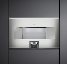 Gaggenau 400 Series BS464610 30  1 5 cu ft Capacity Combi Steam Oven Stainless