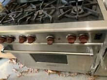 Wolf R366 36  Professional Gas Range Oven 6 Burner Stainless Steel