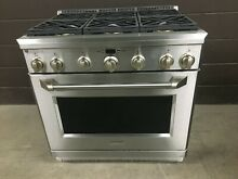 GE Monogram ZGP366NRSS 36  All Gas Range Professional 6 Burners Stainless