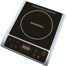 Single Burner 7 25 in  Black and Silver Induction Hot Plate