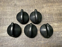 Set Of 5 Thermador Range Burner Knob Black 00414832  20 02 584 01  414832