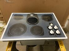 Kitchen Aid 30  Inch Downdraft Radiant Glass Electric Cooktop White KECD805EWH0