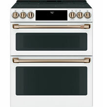 Cafe CES750P4MW2 30 Inch Smart Slide In Double Oven Electric Range with Wi Fi Co