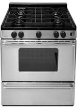 New Premier ProSeries 30 in  3 91 cu ft  Gas Range Stainless Steel Cast Iron