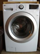 LG wm3500cw 4 5 cu ft  Smart Wi Fi enabled white front load washer slightly used