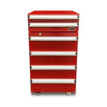 Portable Tool Box Refrigerator Storage 1 8 cu  ft  with 2 Drawers And Lock Red