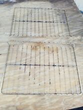 Lot of 2     GE Range Oven Rack w  Wear Aging Part   WB48X0208 WB48M4