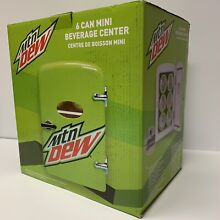 Mountain MTN Dew 6 can Mini Fridge Portable Car Or Home Refrigerator New