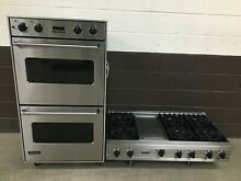2 pc set  Viking Range Top 48  and Viking 30  Double Wall Oven VEDO130SS
