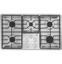 GE 36  Gas 5 Burner Stainless Steel Cooktop w  Hoses and Connectors JGP3036SLSS