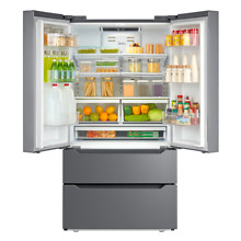21 Cu Ft French Door Refrigerator Stainless Steel Freezer 36 Inch Counter Depth