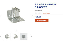 GE RANGE APPLIANCE PARTS ANTI TIP BRACKET WB02K10237 NEW