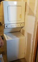 GE SPACEMAKER STACKABLE WASHER AND DRYER IN GOOD CONDITION   WSM2420TBAWW
