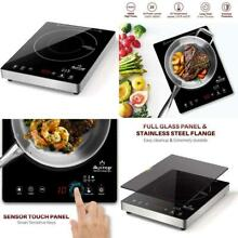 Duxtop Portable Induction Cooktop  High End Full Glass Induction Burner With Sen