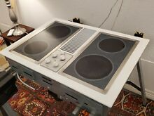 GE JP389W Cooktop With Downdraft Electric 30  with Grill