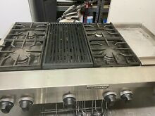 Kitchen Aid 48  Pro Stainless Range top 4   griddle and grill
