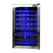 Smad Freestanding 35 Bottle Compressor Wine Fridge Cooler Stainless Steel
