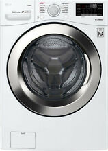 LG   4 5 Cu  Ft  12 Cycle Front Loading Smart Wi Fi Washer w  Steam 6Motion Tech