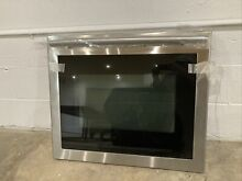 Samsung Complete Oven Door Glass   Stainless Steel   With Handle DG94 00948A