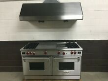 Wolf R604CF All Gas PRO 60  Range Stove 4 Burners   FrenchTop   Grill with Hood