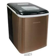 Frigidaire 26 lb  Countertop Ice Maker EFIC117 SS Copper Stainless Steel Machine