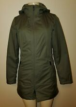 Womens The North Face Dry Vent Green Hooded Jacket with Quilted Lining Size XS