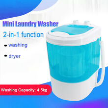Electric Mini Washing Machine with Spin Dryer for Apartment  RV  Traveling Blue