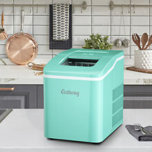 Portable Ice Maker Machine Green Countertop 26Lbs 24H Self cleaning w  Scoop