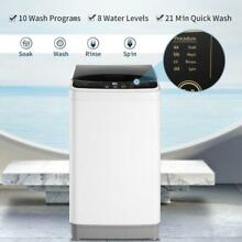 Full Automatic Washing Machine Portable 8LBS Laundry Washer Spin LED Display US
