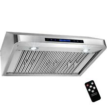 36  Under Cabinet Stainless Steel Range Hood Kitchen Stove Cooking Vent Remote