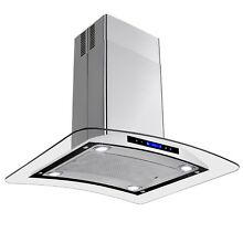 30  Island Mount Stainless Steel Range Hood Kitchen Stove Vent