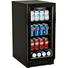 Built In Undercounter Glass Door Refrigerator   Compact Beverage Cooler Fridge
